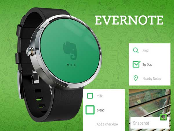 Evernote Android Wear