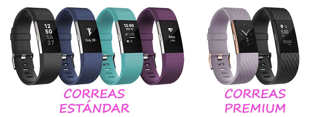 Fitbit Charge 2. Varios modelos